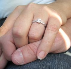 Holding hands with the Tiara Ring :)