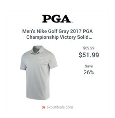 602e7d4962b Celebrate the PGA Championship when you put on this Victory Solid Dri-FIT  polo from Nike Golf.