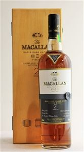 Macallan `Fine Oak 21YO Triple Cask' Single Malt Scotch Whisky (1 x 700mL)