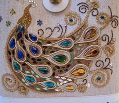 Rhinestone Peacock Bag    Vintage 60s Collins style handbag with jewels, braid and sequin peacock. Beige fabric outer fabric, vinyl handle and trim, wood bottom. Inner zipper pocket.    Measures: 10.5 x 12.5 not including handle - 3.75 wide at bottom    Excellent condition: clean interior, few little marks around vinyl trim.. little greening at metal where handle attaches (as pictured). handle has no breaks    PLEASE READ POLICIES BEFORE PURCHASING - Items ship from Canada and there are some…