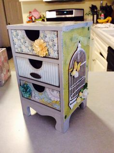 Kaisercraft Three Drawer Mini Cabinet