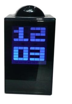 A wonderful gift Digital LED Projector Laser Projection Alarm Clock Temperature Sensor Black. LCD display time, date and temperature