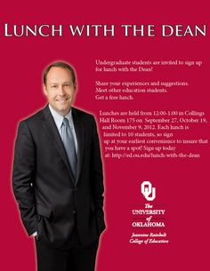 What could be better than free food and face time with Dean Gregg Garn? Exactly! Nothing! Sign up today!
