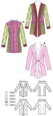 Kwik Sew Ladies Sewing Pattern 3563 - Jacket (O/S)