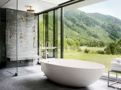 DOMINO:21 bathtubs where we'd soak up the view