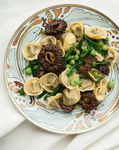 Morel mushroom tortellini recipe.