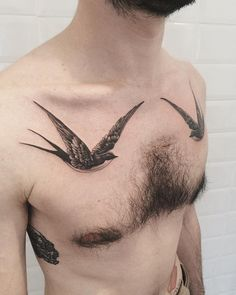Swallow chest tattoo for man - 100  Lovely Swallow Tattoos  <3 <3