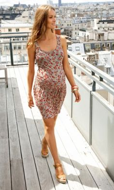 Robe de grossesse sans manches #maternity dress #summer 2012