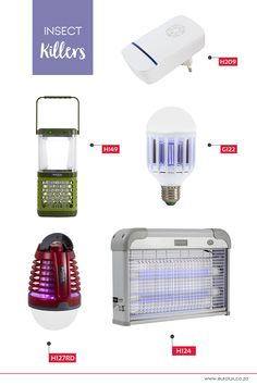 Keep the creepy crawlies and pesky pests away with our range of insect killers. Novelty Lighting, Lightbulb, Outdoor Lighting, Indoor Outdoor, Creepy, Insects, Home Appliances, Range, Lights