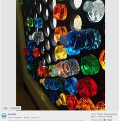GeoKids - Exploration of light with colored water bottles in window
