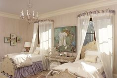 Love the window curtain canopy! Margaret Norcott Design - Atlanta Christmas showhouse
