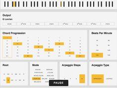 Musical Chord Progression Arpeggiator