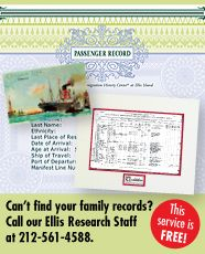 Ellis Island - FREE Port of New York Passenger Records Search | also castlegarden.org
