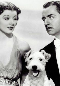 The Thin Man - Myrna Loy, Wm Powell and Asta the Pooch