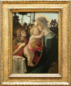 Botticelli, La Vierge à l'enfant avec le jeune Saint Jean Baptiste, vers 1470-1475