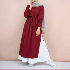 Womens Shoes Office Blouses Super Ideas, Save on Women's s Modern Hijab Fashion, Street Hijab Fashion, Hijab Fashion Inspiration, Islamic Fashion, Abaya Fashion, Fashion Outfits, Dress Fashion, Fashion Fashion, Moslem Fashion