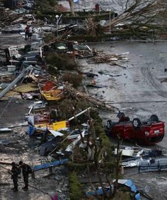 Debris litter a damaged airport after super Typhoon Haiyan battered Tacloban city in central Philippines November 9, 2013. Possibly the stro...