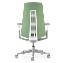Fern | Desk Chair | Haworth /125100/ ergonomic chair with adjustable controls to fit every user. color and material is a modern office style.