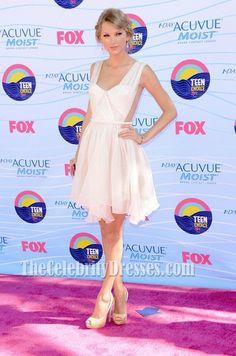 Taylor Swift Short Dress 2012 Teen Choice Awards Party Dresses