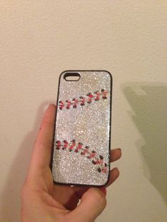 Champagne shimmer dusted iPhone 5 baseball case  on Etsy, $28.00
