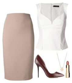 """""""Rachel Zane Inspired Outfit"""" by daniellakresovic ❤ liked on Polyvore featuring Dsquared2 and Clarins"""