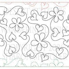 Mountain Laurel Border Corner pantograph pattern by