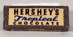Heat-resistant chocolate? It's no joke! This Tropical Chocolate bar was produced by the Hershey Chocolate Company during World War II, and distributed to soldiers as part of their C-rations.   Happy #FoodFriday!