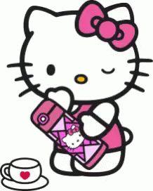 Hello Kitty Coffee GIF - HelloKitty Coffee - Discover & Share GIFs