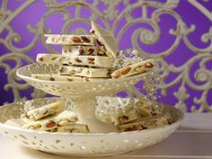 Lindt CLASSIC RECIPE, served on a two tier candy dish.