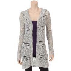 JR-184123-C8C6C5-A%3F%24zm%24 Best Deal Sweater Project Grey Open Waffle Knit Cardigan  Juniors  Grey  M  Sweater Project