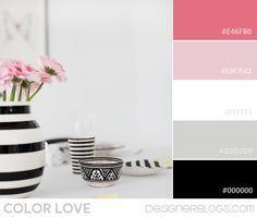 Color Love | Black, White & Pink - DesignerBlogs.com