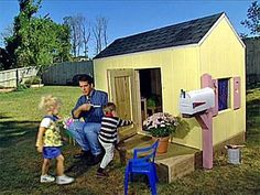 Free Plans to Help You Build a Playhouse for the Kids: Deluxe Playhouse Plan from DIY Network