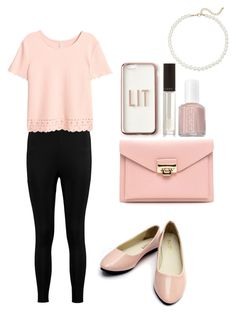 """""""Pretty in Pink Budget Find"""" by alexishannah15 on Polyvore featuring Boohoo, Essie, Missguided and Saks Fifth Avenue"""