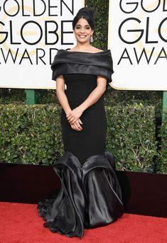 Amara Karan Dress: MNM Couture Celebrity Red Carpet, Celebrity Dresses, Celebrity Style, Golden Globes 2017 Dresses, Poorly Dressed, Bad Fashion, Red Carpet Looks, Red Carpet Dresses, Red Carpet Fashion