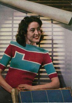 Stitchcraft 166, c. mid 1940s - Vintage Knitting Pattern booklet PDF (105). $5.00, via Etsy.