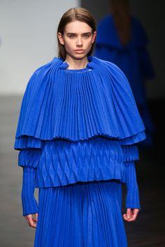 Jaimee McKenna- CSM College Works, Central Saint Martins, Ruffle Blouse, Women's Fashion, Fabric, Blue, Inspiration, Tops, Design