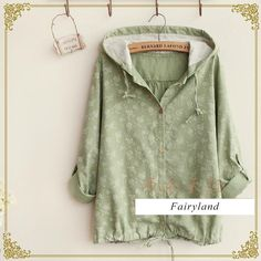 Floral Hooded Buttoned Jacket - Fairyland | YESSTYLE