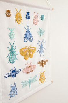 The Beetles and Moths Banner is the first of two stunning designs illustrated by Erin Bullock (that will be rolled out over a period of two months) and turned into an embroidery pattern and kit by Thread Folk for the collaborative project, the Artist Series. This is a beautiful stitching project with the kit including all the supplies you need as well as a simple to understand visual stitch guide. This pattern is full of simple embroidery stitches and perfect for beginners and established…