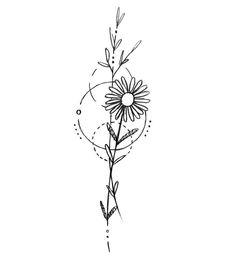 Minimalist tattoos sunflower & minimalistische tätowierungssonnenblume & tatouages minimalistes tournesol & tatuajes minimalistas girasol & minimalist tattoos meaning, minimalist tattoos small, minimalist tattoos flower, minimalist tattoos back Small Tattoo Designs, Flower Tattoo Designs, Small Tattoos, Small Daisy Tattoo, Daisies Tattoo, Daisy Flower Tattoos, White Tattoos, Tattoo Flowers, Tiny Tattoo