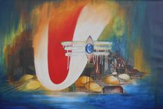 Shiva and Kashi by nehaverma Watercolor Landscape Paintings, Painting Abstract, Oil Paintings, Watercolour, Shiva Art, Hindu Art, Hindu Deities, Hinduism, Indian Drawing