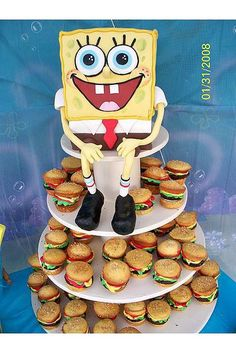 Spongebob Squarepants Cupcake Tower by Johanna of Isabella's Sweet Tooth.