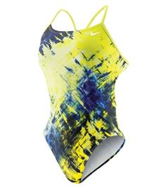Nike Swim Fractured Tie Dye Cut Out Tank- birthday maybe??? So cute