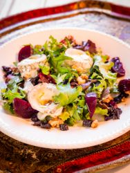 Jennifer Irvine's Warm Goat's Cheese, Beetroot, Walnut and California Prune Salad is a lighter option for Father's Day lunch. Dad will love you for throwing it together for him.