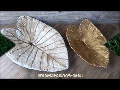 Cement Art, Cement Crafts, Mini Vasos, Plant Leaves, Creations, Clay, Make It Yourself, Handmade, Kurtis