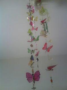 mobile borboletas de garrafa pet