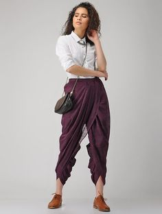 beautiful 40 fabulous purple outfit ideas for the summer www. Teen Fashion Outfits, Fashion Pants, Casual Outfits, Fashion Dresses, Dress Indian Style, Indian Dresses, Indian Outfits, Purple Pants Outfit, Purple Outfits