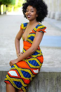 "BLACKBEAUTYBAG.  Fatou porte la robe ""Fatou by Natacha Baco """