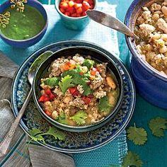 Slow-Cooker Turkey Chili with Quinoa Recipe | MyRecipes.com