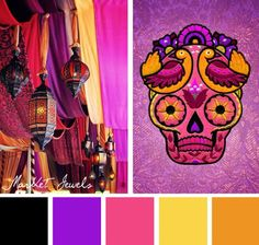 Let the warm glow of Moroccan tones liven up your embroidery designs with this Market Jewels color inspiration.