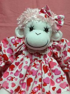 Valentine's Day Sock Monkey Doll  by sockmonkeyangel, $38.00